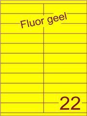 Etiket fluor geel 105x25,4mm (22) ds200vel A4