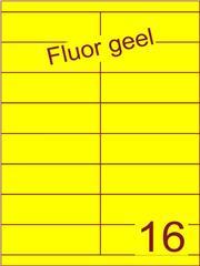 Etiket fluor geel 105x33,9mm (16) ds100vel A4