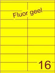 Etiket fluor geel 105x35mm (16) ds100vel A4