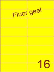 Etiket fluor geel 105x37,1mm (16) ds100vel A4