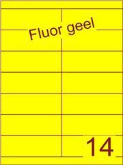 Etiket fluor geel 105x38,1mm (14) ds100vel A4