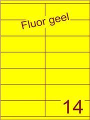 Etiket fluor geel 105x40mm (14) ds200vel A4