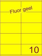Etiket fluor geel 105x56,8mm (10) ds100vel A4
