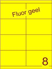 Etiket fluor geel 105x67,7mm (8) ds200vel A4