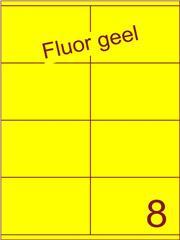 Etiket fluor geel 105x71mm (8) ds200vel A4