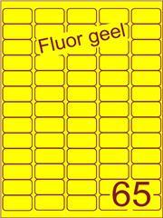 Etiket fluor geel 38,1x21,2mm (65) ds100vel A4