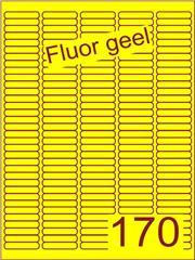 Etiket fluor geel 38,1x8mm (170) ds200vel A4