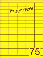 Etiket fluor geel 40x18mm (75) ds200vel A4