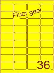 Etiket fluor geel 48,3x29,7mm (36) ds200vel A4