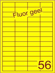Etiket fluor geel 48x20mm (56) ds200vel A4