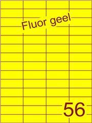 Etiket fluor geel 52,5x21,2mm (56) ds100vel A4