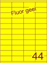 Etiket fluor geel 52,5x25,4mm (44) ds100vel A4