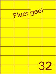 Etiket fluor geel 52,5x37,1mm (32) ds200vel A4