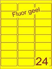 Etiket fluor geel 63,5x33,9mm (24) ds100vel A4