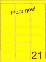 Etiket fluor geel 63,5x38,1mm (21) ds100vel A4