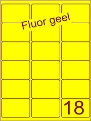 Etiket fluor geel 63,5x46,6mm (18) ds100vel A4