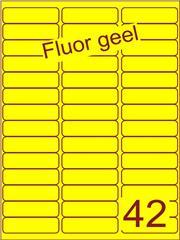 Etiket fluor geel 65x20mm (42) ds200vel A4