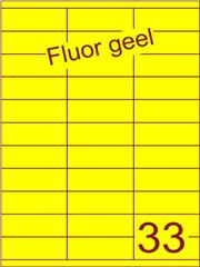 Etiket fluor geel 70x25,4mm (33) ds100vel A4