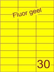 Etiket fluor geel 70x29,7mm (30) ds100vel A4