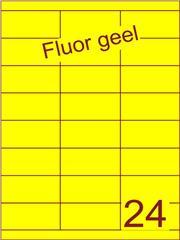 Etiket fluor geel 70x33,9mm (24) ds200vel A4