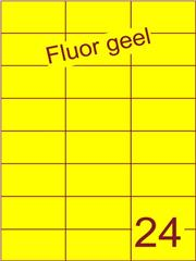 Etiket fluor geel 70x37,1mm (24) ds100vel A4