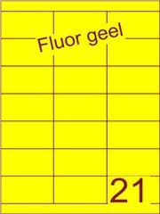 Etiket fluor geel 70x38,1mm (21) ds100vel A4