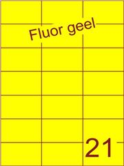 Etiket fluor geel 70x42,4mm (21) ds100vel A4