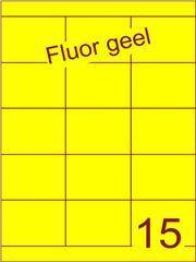 Etiket fluor geel 70x52mm (15) ds200vel A4