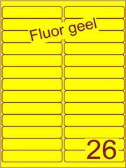 Etiket fluor geel 99,1x21,2mm (26) ds200vel A4