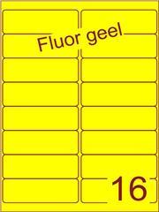 Etiket fluor geel 99,1x33,9mm (16) ds200vel A4