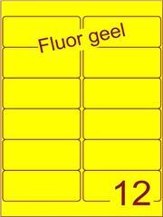 Etiket fluor geel 99,1x42,3mm (12) ds100vel A4
