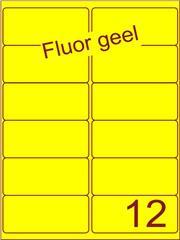 Etiket fluor geel 99,1x46,6mm (12) ds100vel A4