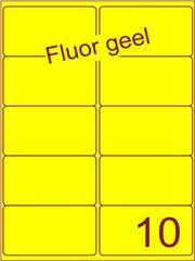 Etiket fluor geel 99,1x56,8mm (10) ds100vel A4