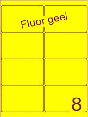 Etiket fluor geel 99,1x67,7mm (8) ds100vel A4