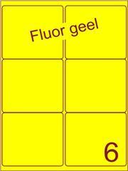 Etiket fluor geel 99,1x93,2mm (6) ds100vel A4