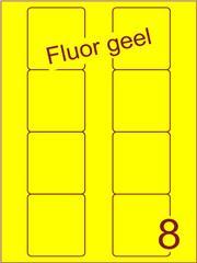 Etiket fluor geel Disklabels 70x72 (8) ds200vel A4