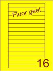 Etiket fluor geel Videolabels 145x17 (16) ds200vel A4