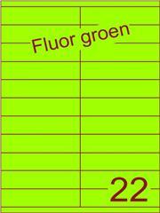 Etiket fluor groen 105x25,4mm (22) ds200vel A4