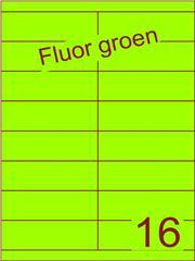 Etiket fluor groen 105x33,9mm (16) ds100vel A4