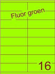 Etiket fluor groen 105x35mm (16) ds100vel A4