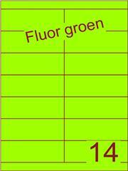 Etiket fluor groen 105x38,1mm (14) ds100vel A4