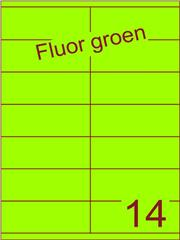 Etiket fluor groen 105x40mm (14) ds200vel A4