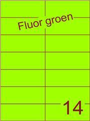 Etiket fluor groen 105x42,4mm (14) ds100vel A4