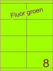 Etiket fluor groen 105x67,7mm (8) ds200vel A4