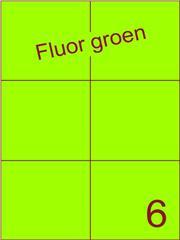 Etiket fluor groen 105x99mm (6) ds100vel A4