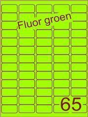 Etiket fluor groen 38,1x21,2mm (65) ds100vel A4