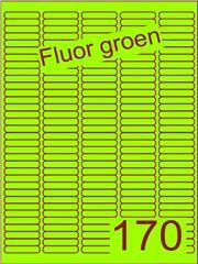 Etiket fluor groen 38,1x8mm (170) ds200vel A4