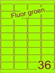 Etiket fluor groen 48,3x29,7mm (36) ds100vel A4