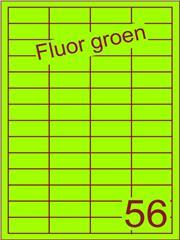 Etiket fluor groen 48x20mm (56) ds200vel A4