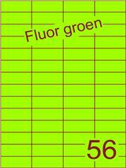 Etiket fluor groen 52,5x21,2mm (56) ds100vel A4